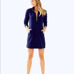 Lilly Pulitzer Skipper Popover Dress, navy